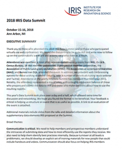 Executive Summary Data Summit 2018