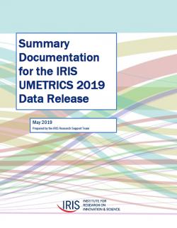 Summary Documentation for the IRIS UMETRICS 2019 Data Release